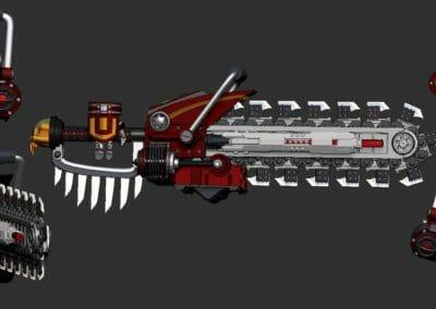 Samurai Chainsaw Gun